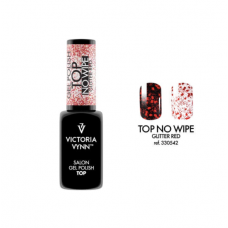 Victoria Vynn Top Coat No Wipe Glitter Red